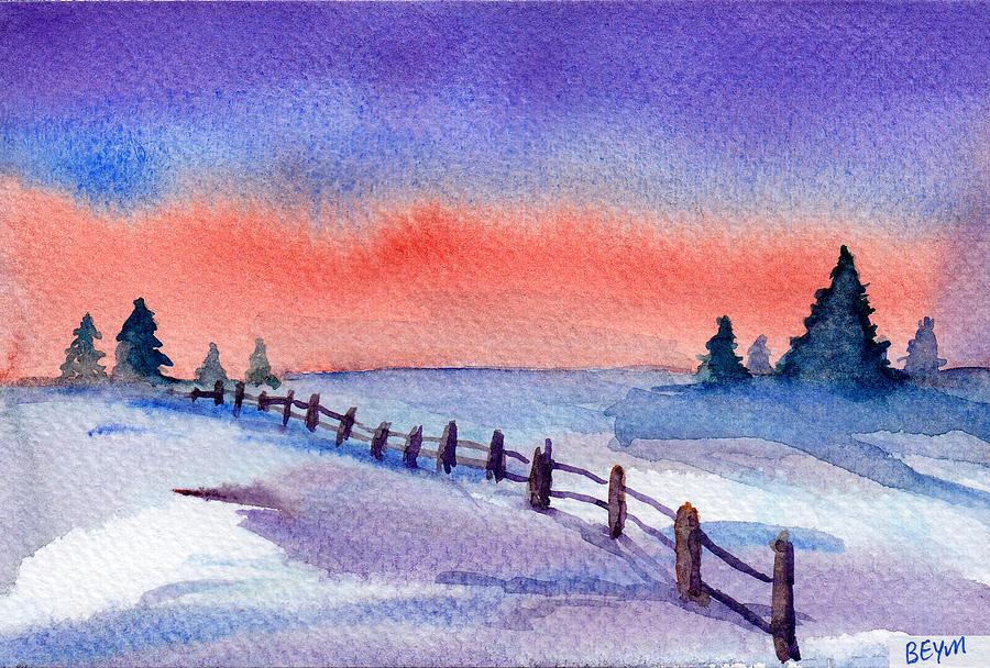 Winter fence by Clara Sue Beym