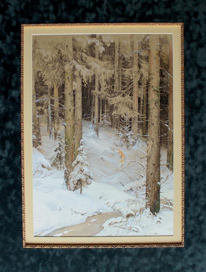 Landscape Painting - Winter Forest by Anna Ankudinova