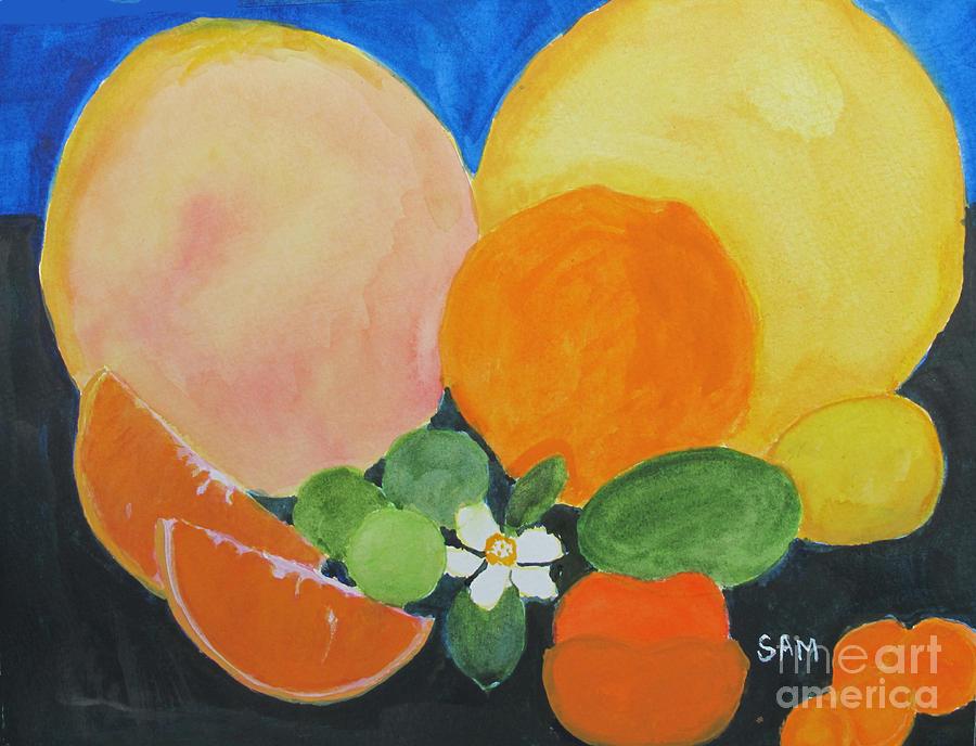 Citrus Painting - Winter Fruit by Sandy McIntire