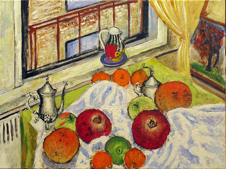 Still Life Painting - Winter Fruits by Vladimir Kezerashvili