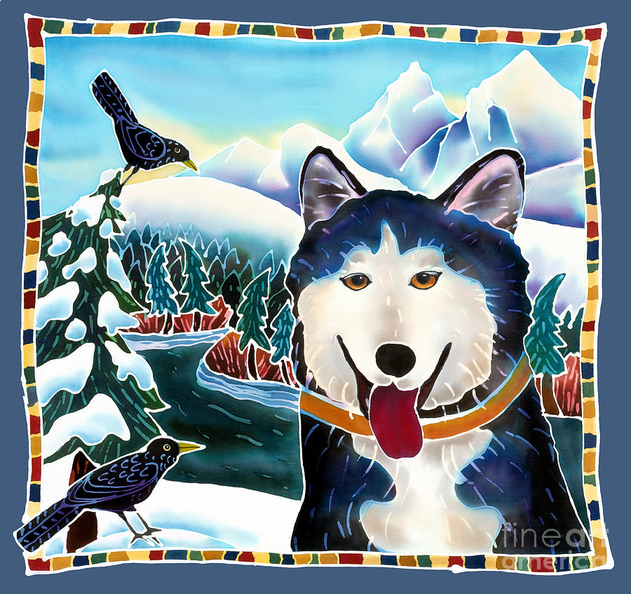 Dog Painting - Winter Fun by Harriet Peck Taylor
