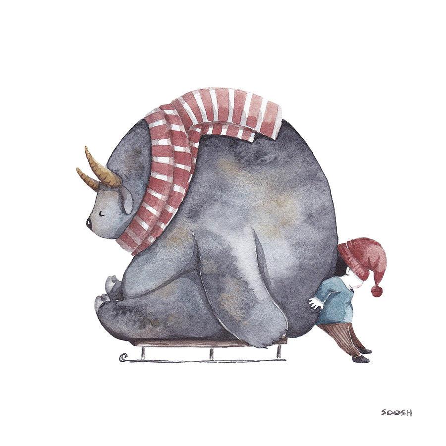 Illustration Painting - Winter Fun by Soosh