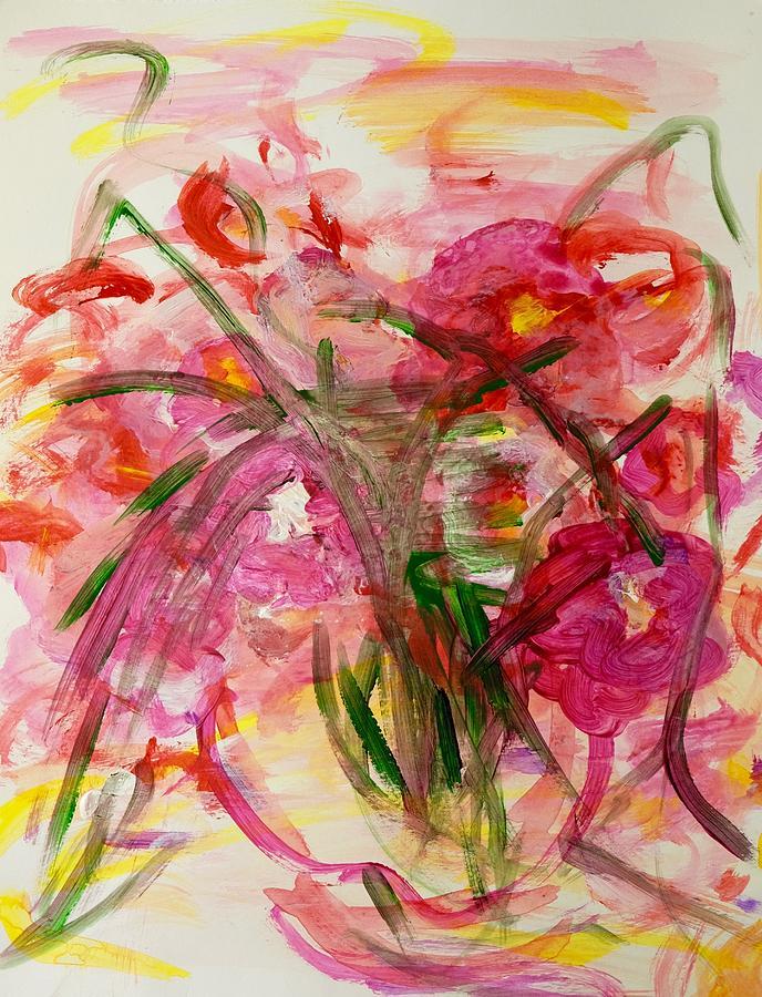 Pinks Painting - Winter Gardens by Barbara Rose Brooker