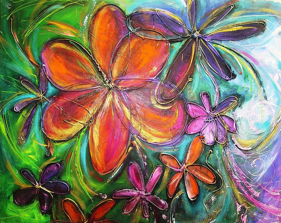 Flower Painting - Winter Glow Flower Painting by Chris Hobel
