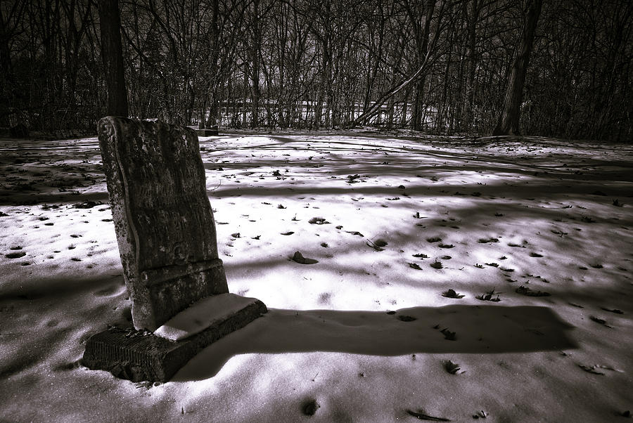 Grave Photograph - Winter Grave by George Christian