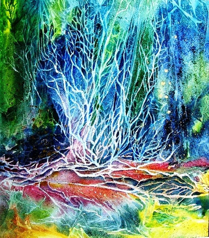 Woodland Painting - Winter Habitat No.2  by Trudi Doyle