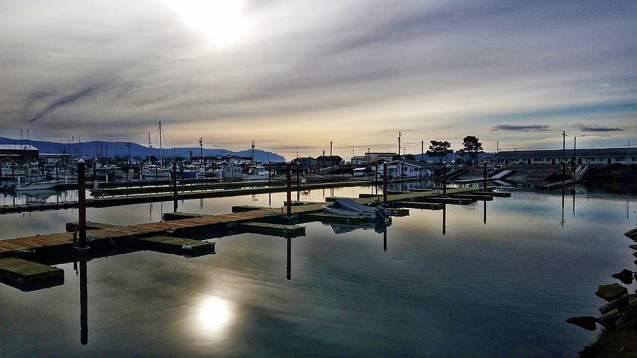 Winter Harbor Revisited #MobilePhotography by Chriss Pagani