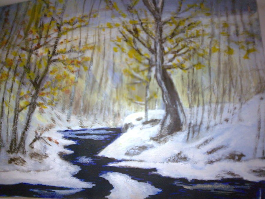 Landscape Painting - Winter  by Helen Vanterpool