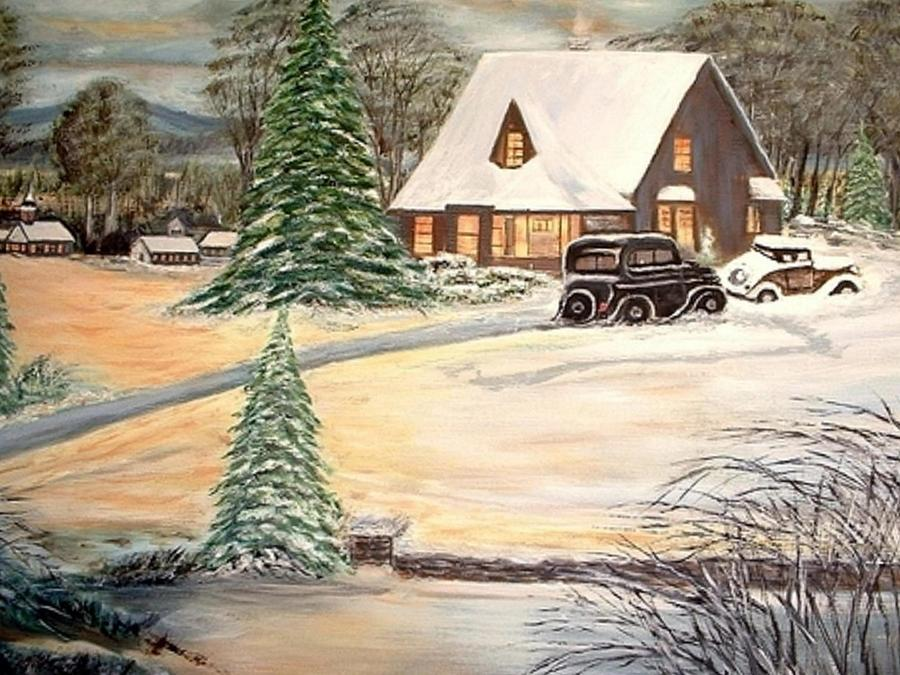 Winter Home Painting by Kenneth LePoidevin