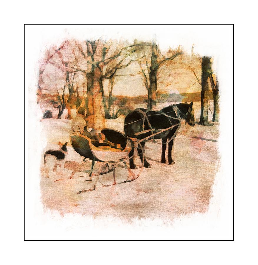 Winter Horse Sled by Russ Considine