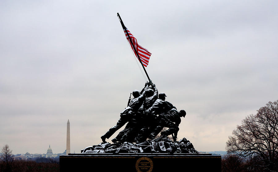 Marine Corps Memorial Photograph - Winter In Arlington by JC Findley
