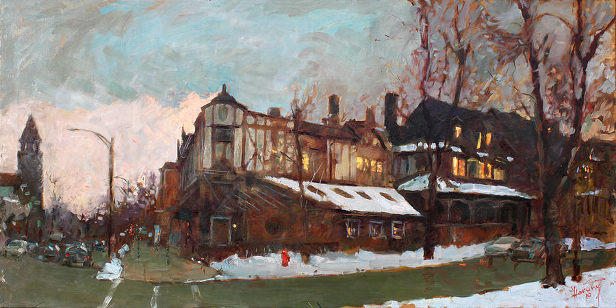 Landscape Painting - Winter In Buffalo by Ylli Haruni