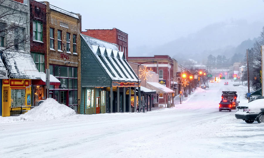 Winter in Downtown Boone by Tommy White
