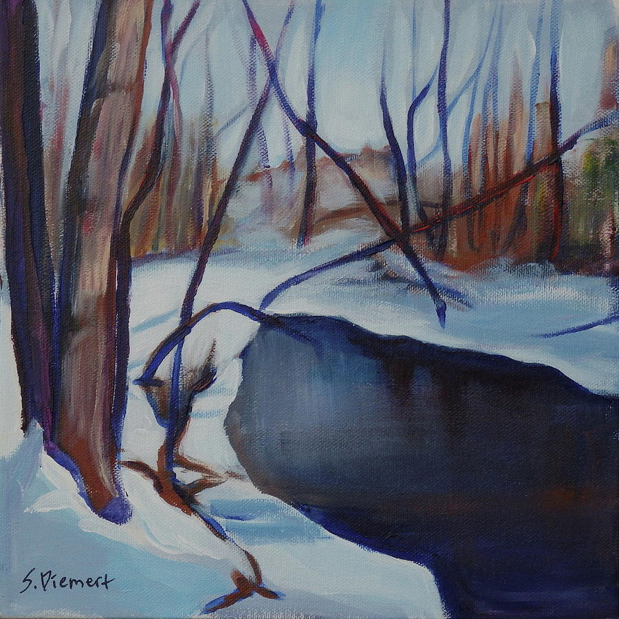 Winter In The Park - 007 Of Celebrate Canada 150 Painting