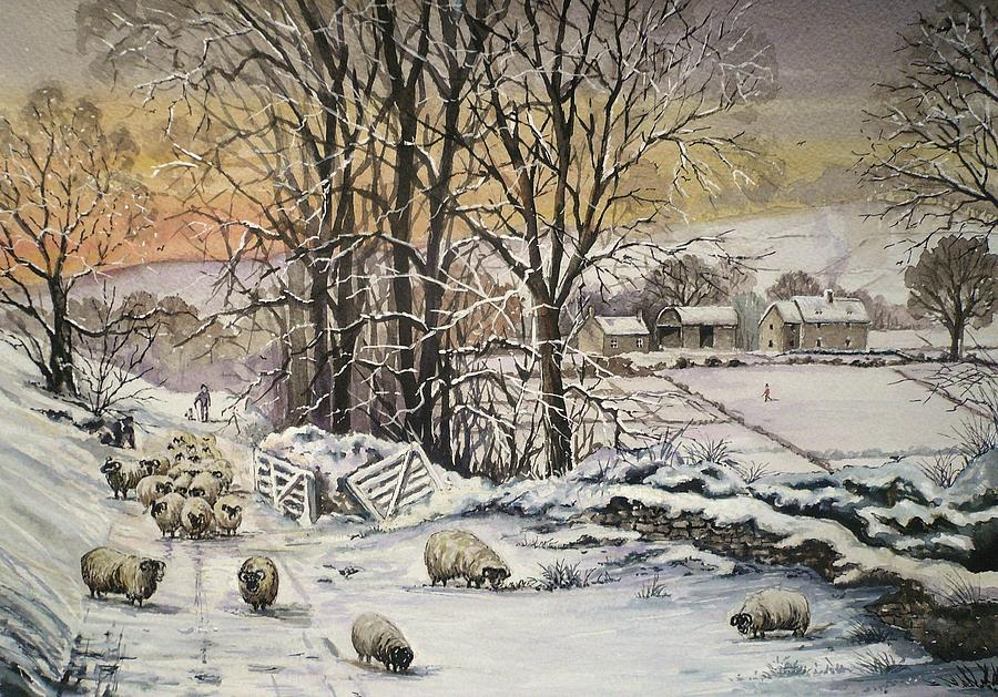 Winter Painting - Winter In The Ribble Valley by Andrew Read