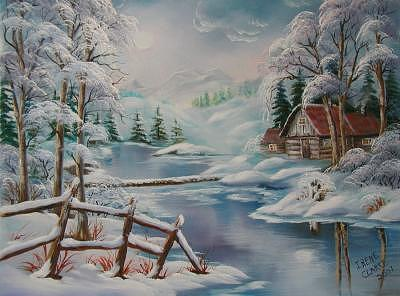 Winter Scapes Painting - Winter In The Valley by Irene Clarke