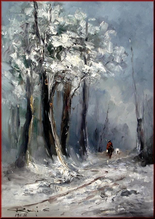 Quadri Painting - Winter In Tuscany by Rangi Sergio