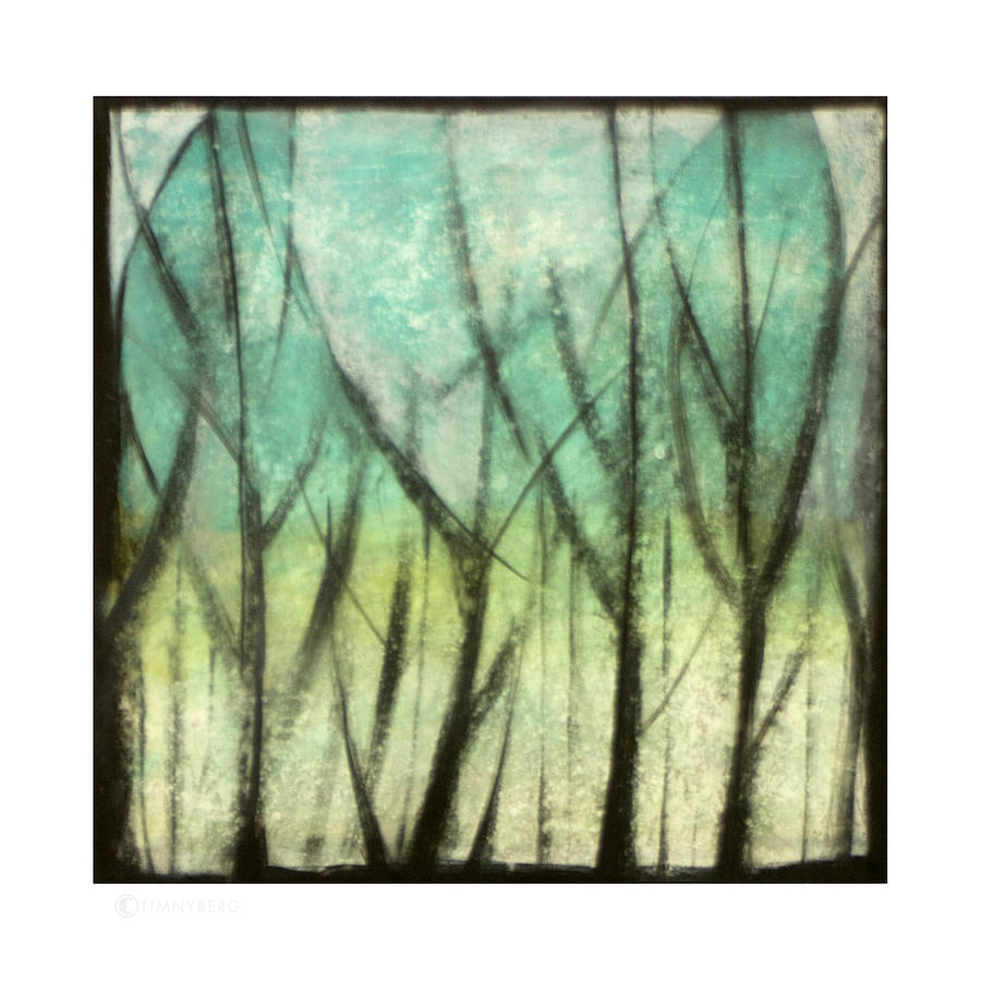 Trees Painting - Winter Into Spring by Tim Nyberg