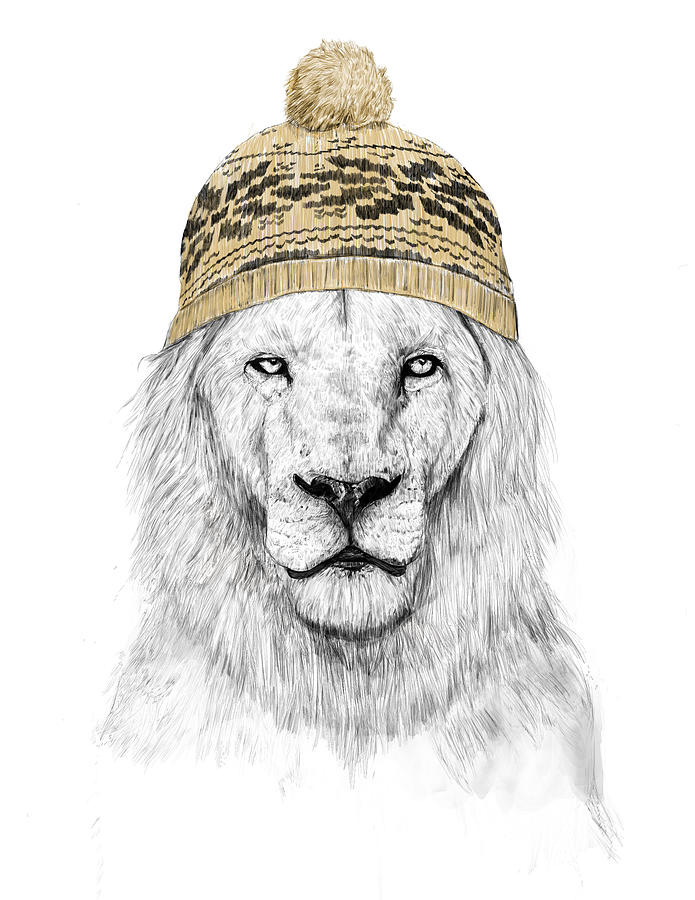 Lion Mixed Media - Winter Is Coming by Balazs Solti