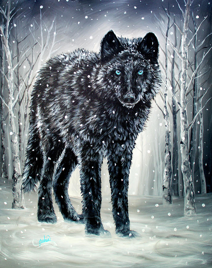 Black Painting - Winter Is Coming by Teshia Art