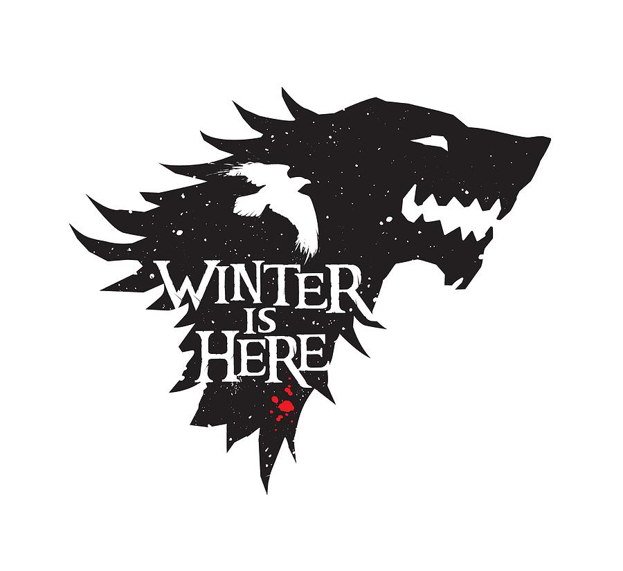 winter is here wolf and raven version edward draganski