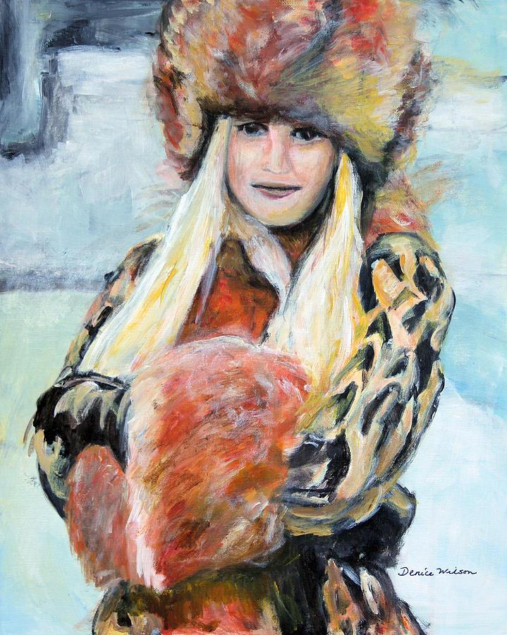 Winter Painting - Winter Lady by Denice Palanuk Wilson