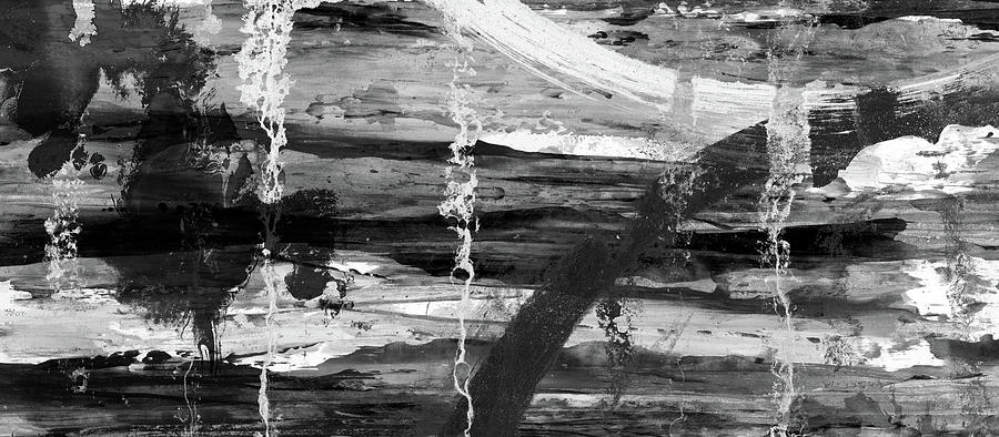 abstract painting winter lake black and white abstract landscape painting by modern art prints