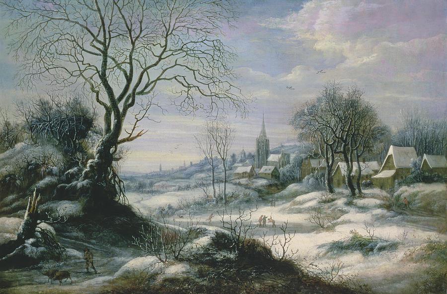 Winter Painting - Winter Landscape by Daniel van Heil