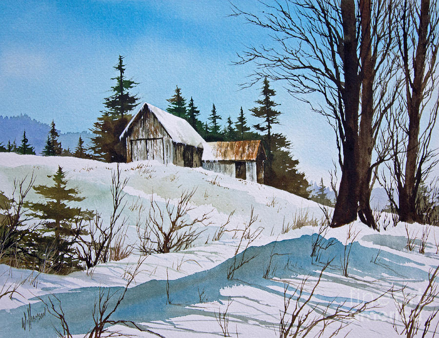 Winter Painting - Winter Landscape by James Williamson
