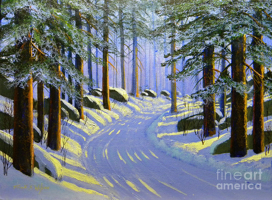 Tree Painting - Winter Landscape Study 1 by Frank Wilson