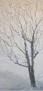 Tree Painting - Winter by Leah  Tomaino