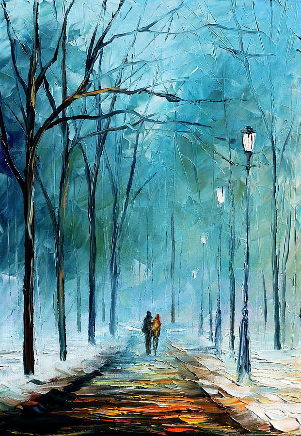 Landscape Painting - Winter by Leonid Afremov