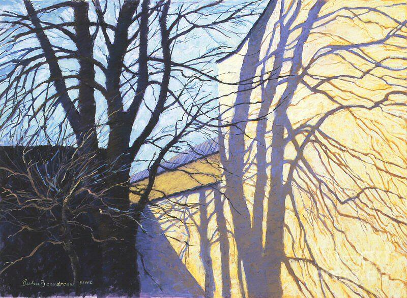 Shadows Painting - Winter Light by Barbara Beaudreau