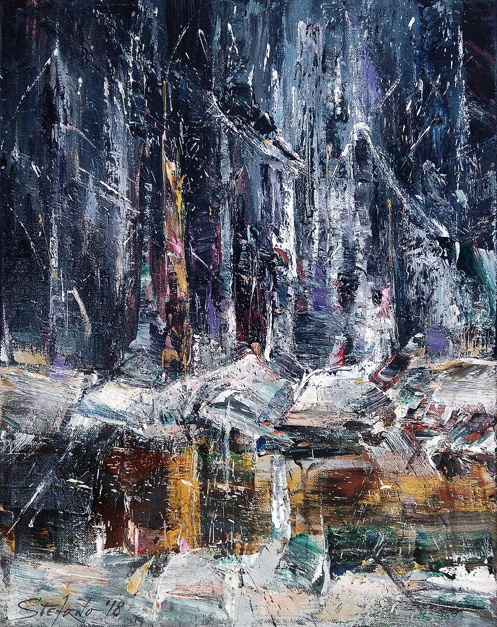 Winter Painting - Winter Light IV by Stefano Popovski