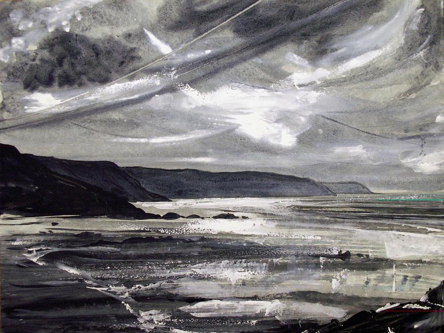 Shoreline Painting - Winter Light by Keran Sunaski Gilmore