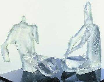 Winter Lovers Sculpture by Zoja Trofimiuk