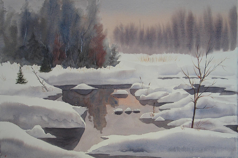 Winter Painting - Winter Magic by Debbie Homewood