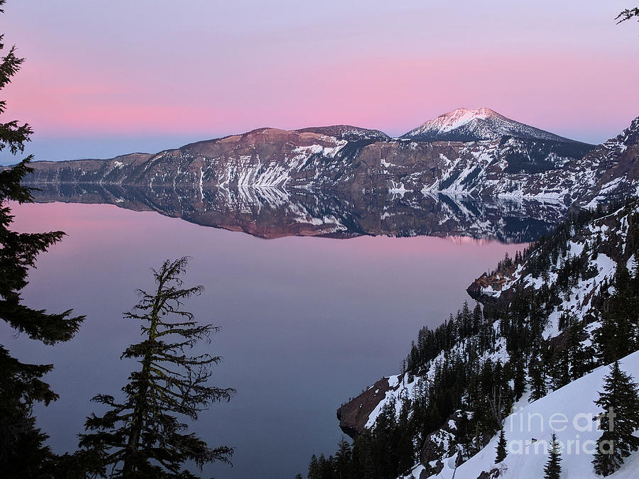 Landscape Photograph - Winter Mirror At Crater Lake by Norman Dean