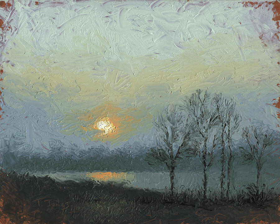 Arkansas Painting - Winter Mist by Timothy Jones