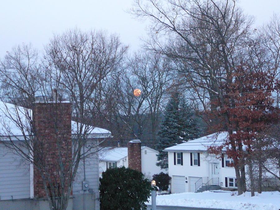 Winter Photograph - Winter Moon Before Sunrise by Joe Smiga