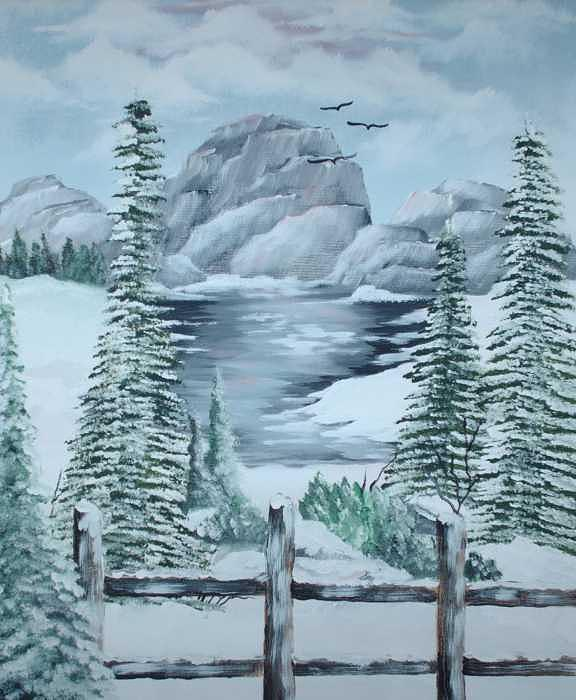 Winter Morning Painting by Brenda Coster