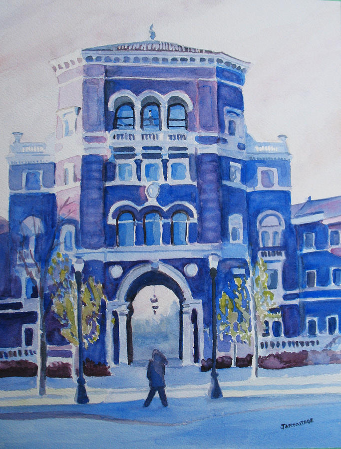 Building Painting - Winter Morning On Campus by Jenny Armitage
