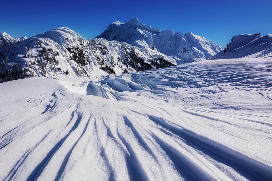 Shuksan Photograph - Winter Mount Shuksan by Pelo Blanco Photo