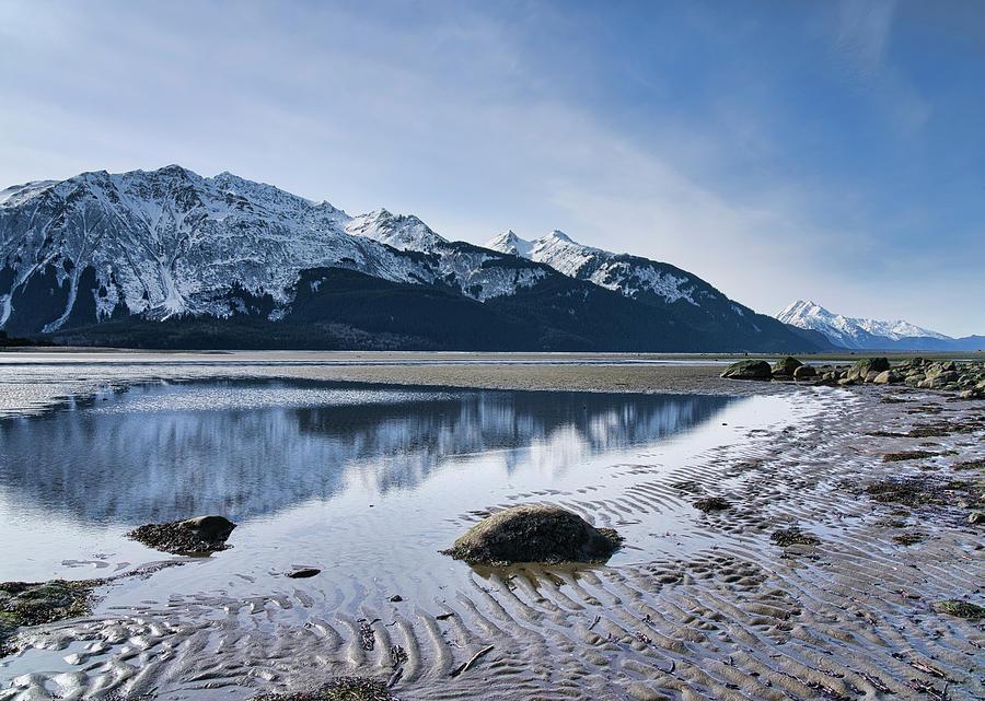 Winter mountain reflections by Michele Cornelius