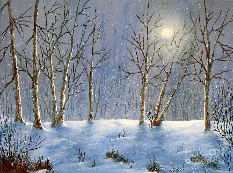 Winter Night Paintings   www.pixshark.com - Images ...