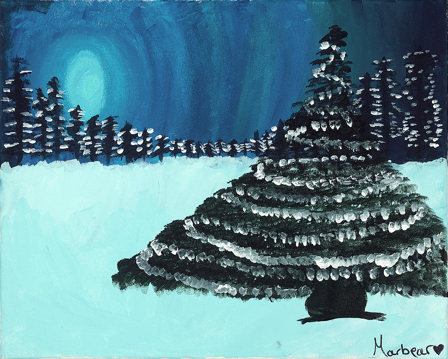 Tree Painting - Winter Night by Marbear