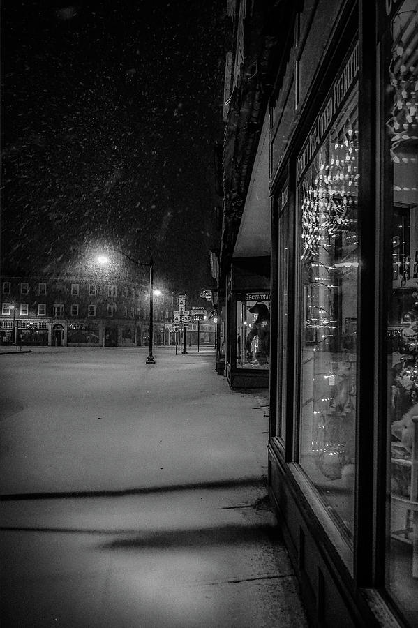 Winter Night On Main Photograph by Kendall McKernon