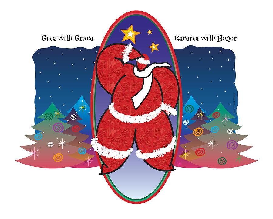 Santa Claus Painting - Winter Night by Steve Ellis
