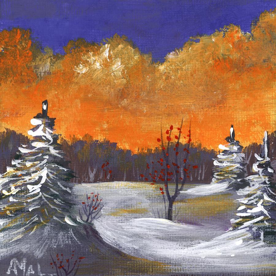 Winter Nightfall #1 by Anastasiya Malakhova