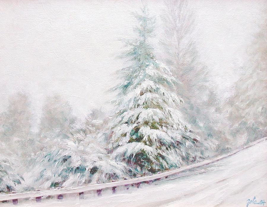 Winter Landscape Painting - Winter Of  04 by Jim Gola